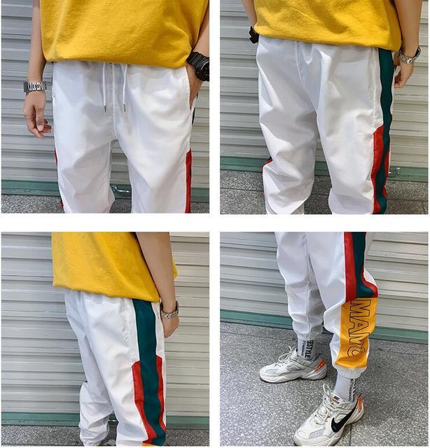 Hip Hop Streetwear Men's Splice Joggers Pants 2019 Men Sweatpants Loose Men Joggers Pants Track Harem Pants Men Streetwear Pant