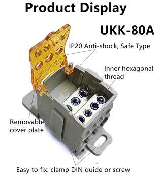Repartidores unipolares de colores (80a - 400a) UKK80A UKK125A UKK160A UKK250A UKK400A UKK500A 2