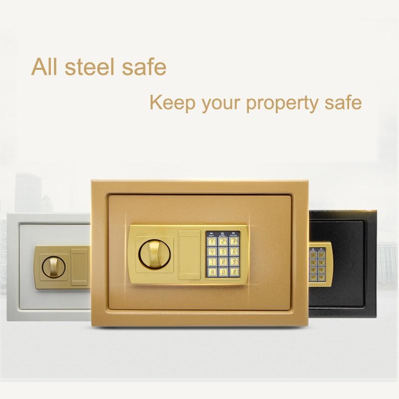 Safurance Luxury Digital Depository Drop Cash Safe Box 25*35*25cm Jewelry Home Hotel Lock Keypad Black Safety Security Box NEW