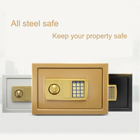 Safurance Luxury Digital Depository Drop Cash Safe Box 25*35*25cm Jewelry Home Hotel Lock Keypad Black Safety Security Box NEW