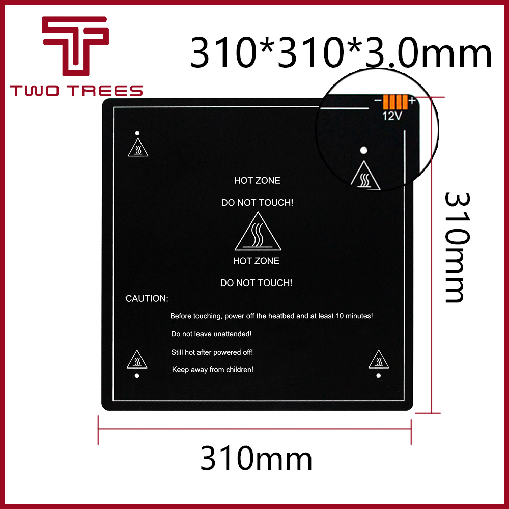 300*300*3.0mm 3D Printer Parts 1PCS black MK3 hotbed latest Aluminum heated bed for Hot-bed Support