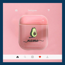Hard Earphone Case For Apple Airpods Protective Cover DIY Customized Cute Avocado Clear Luxury Cases