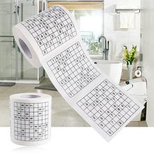 1 рулон 30 м 3,94 ''X3. 94 ''Новинка Забавный номер Sudoku безопасности печатных туалетной рулонной бумаги для ванной ткани подарок 1 рулон 2 слоя