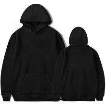Schwarz einfarbig Pullover Individuell casual tops hoody(China)