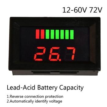 DC 12V-72V kwasowo-ołowiowy cyfrowy wskaźnik naładowania baterii Tester ładowania woltomierz przyrządy pomiarowe i analityczne tanie i dobre opinie OOTDTY CN (pochodzenie) Elektryczne Battery Indicator Tester Akumulatora pojazdu 5-15mA 10 ~ 80 ( no condensation ) 47 * 28 * 22mm 1 85*1 1*0 87