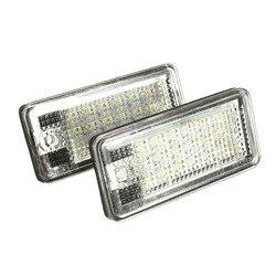 2 uds 18 LED coche número de licencia placa de la lámpara de luz libre de Error para Audi A3 S3 A4 S4 B6 A6 S6 A8 S8 Q7 SMD 18LED 6000K