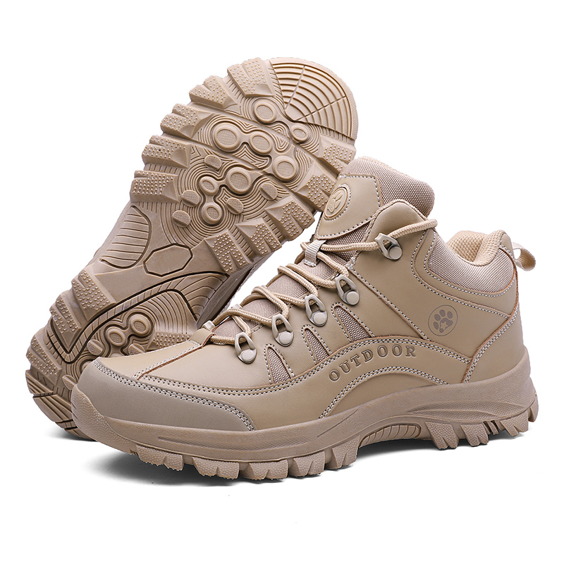 Male Outdoor Sports Tactical Military Men Shoes For Camping Climbing Shoes Men Boots Non-slip Comfortable Mountain Hiking Shoes
