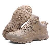 Masculino esportes ao ar livre tático militar dos homens sapatos para acampamento sapatos de escalada homens botas não-deslizamento confortável montanha caminhadas sapatos