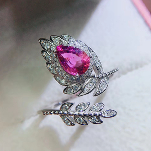 Image 4 - CoLife Jewlery 925 Silver Pink Topaz Ring for Party 4*6mm Natural Topaz Silver Ring Fashion Silver Gemstone Ring