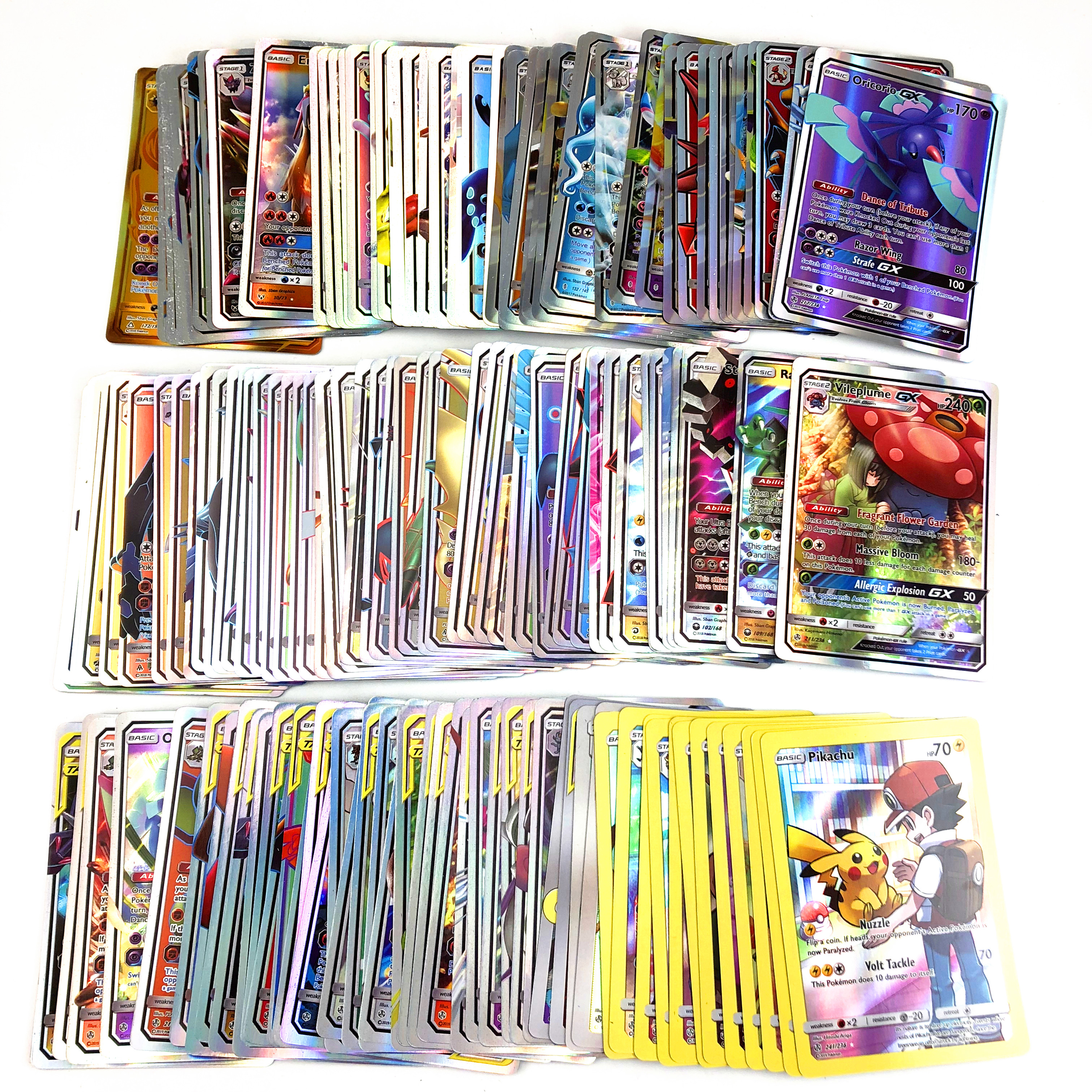 300 Pcs no repeat Pokemones card GX tag team EX Mega shinny card Game Battle Carte Trading Children Toy
