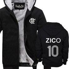 ZICO หนาแจ็คเก็ตบราซิล FLAMENGO UDINESE นักฟุตบอล LEGEND CAMISETA SOCCERER KASHIMA ผู้ชาย warm coat ยูโรขนาด sbz5100