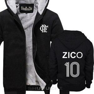 Image 1 - ZICO thick jacket BRAZIL FLAMENGO UDINESE FOOTBALLER LEGEND CAMISETA SOCCERER KASHIMA Men warm coat euro size sbz5100