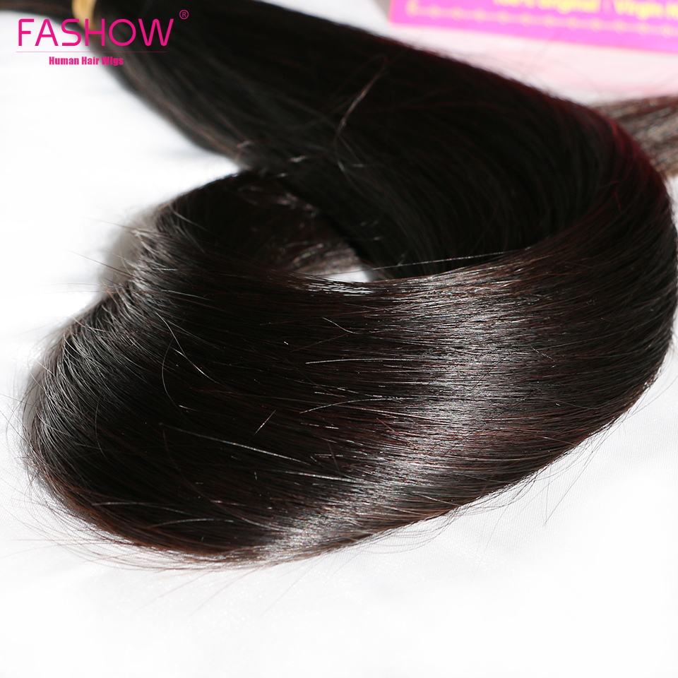 Fashow 30 32 34 36 40 inch  Straight Hair Bundles 100% Natural  Bundles Double Wefts  Hair s 4