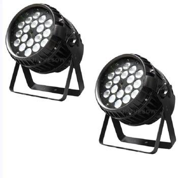 Envío gratis 2 unids/lote disco par de zoom led luz 18*15w rgbwa dj par de zoom iluminación con zoom profesional noche luces Fiesta club wash led