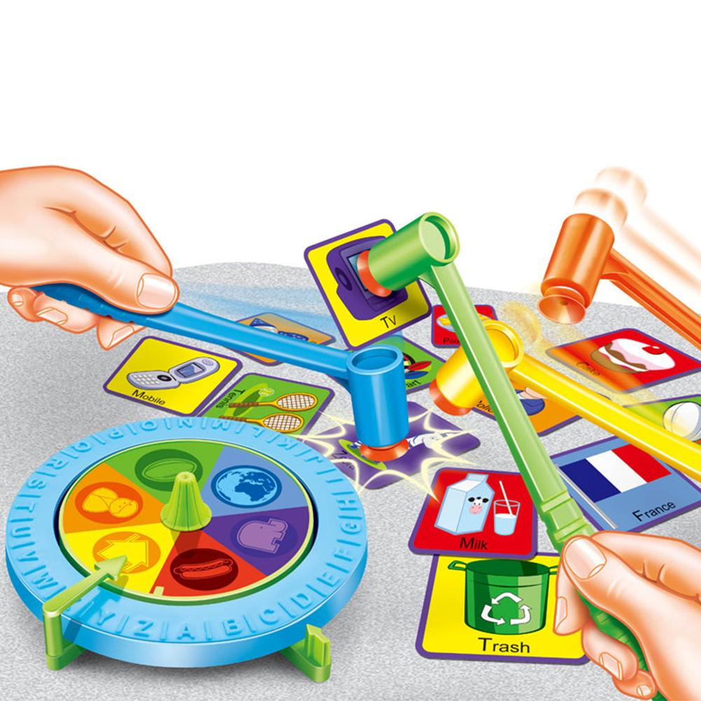 Kids Funny Fast Action Whacking Hammer Board Game Family Party Friends Children Toy Educational Toy For Kids Birthday Gifts image