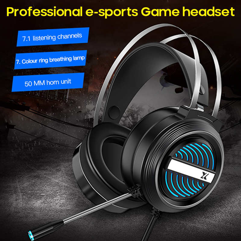 7.1 Channel Wired Headset Headset Computer Music Headphone With Microphone Gaming Headset Sport Earphone