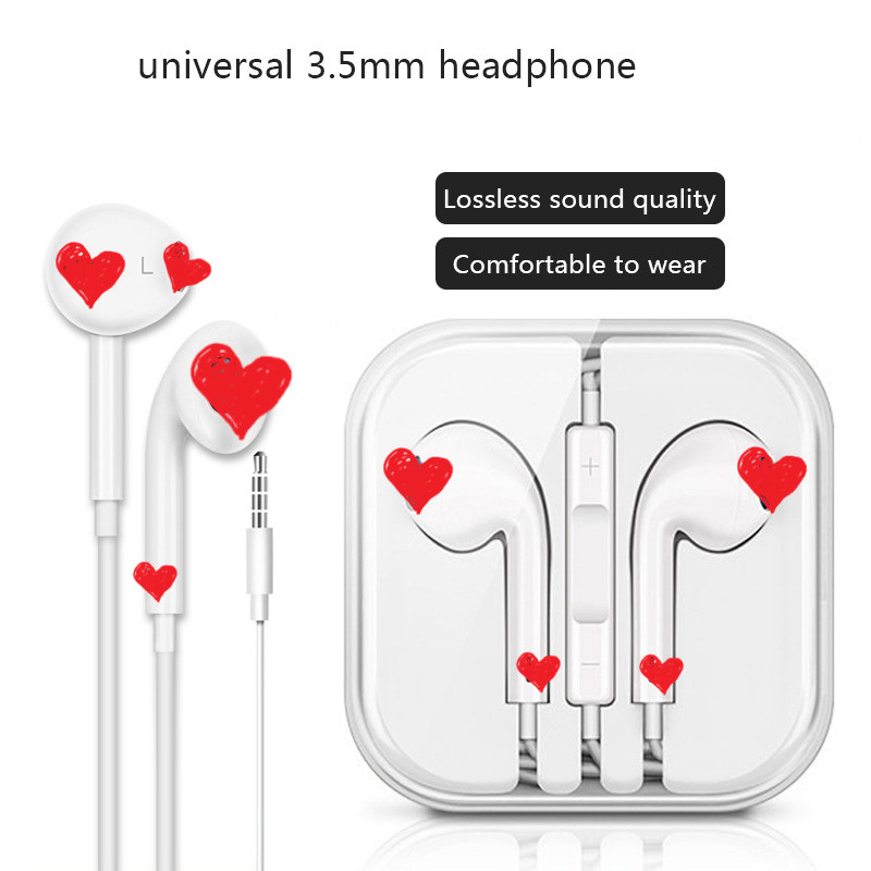3.55mm Wired Control Earphone For IPhone 6 6s Plus Auriculares Type C Earbud For Xiaomi Huawei Head Phones With Mic Auriculares
