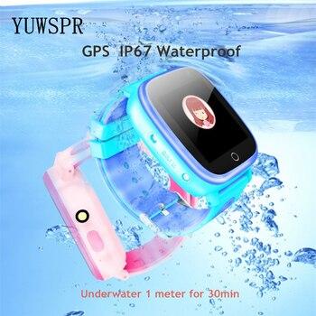 "Kids GPS Tracker Watch IP67 Waterproof GPS LBS Location 1.44"" Touch Screen Flashlight Camera SOS Call Children Smart Clock Q11"