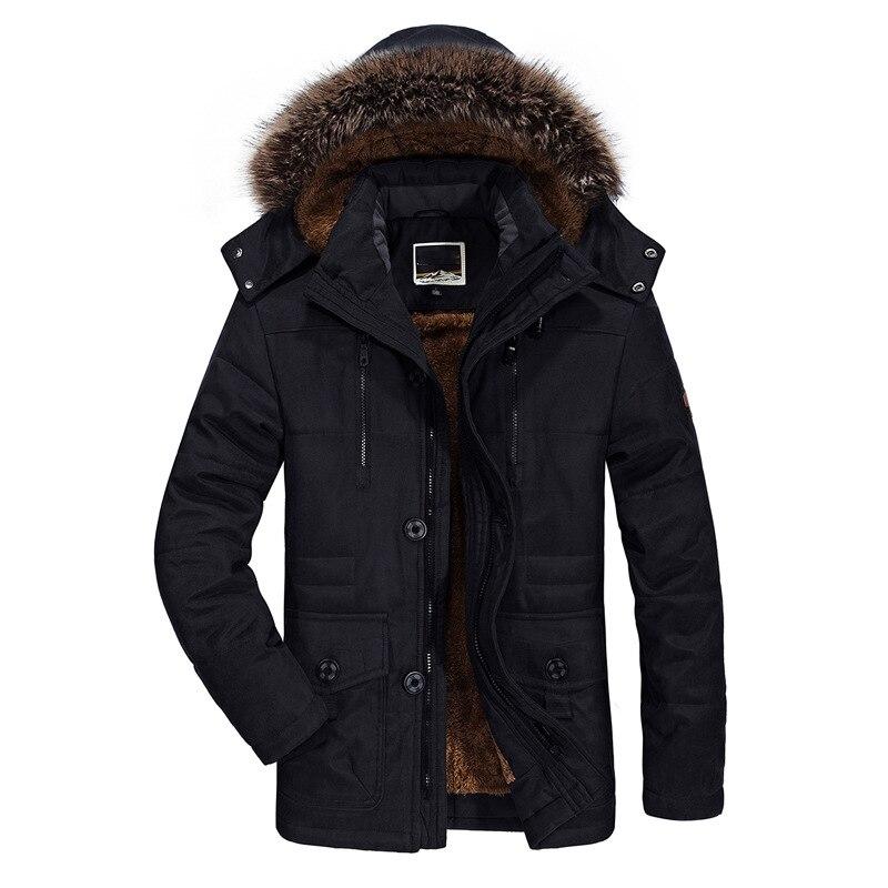 Winter Jacket Men Plus Size 5XL 6XL Cotton Padded Warm Parka Coat Casual Faux Fur Hooded Fleece Long Male Jacket Windbreaker Men 4