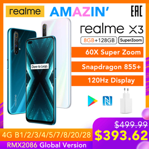 realme X3 SuperZoom Global Version 8GB 128GB 60X Super Zoom Snapdragon 855+ 120Hz Display 64MP Quad Camera UFS 3.0 30W Charger