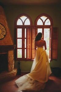 Image 2 - Smileven Wedding Dress Cap Sleeves White Ivory Bride Dresses Train Elegant Wedding Bridal Gowns 2019