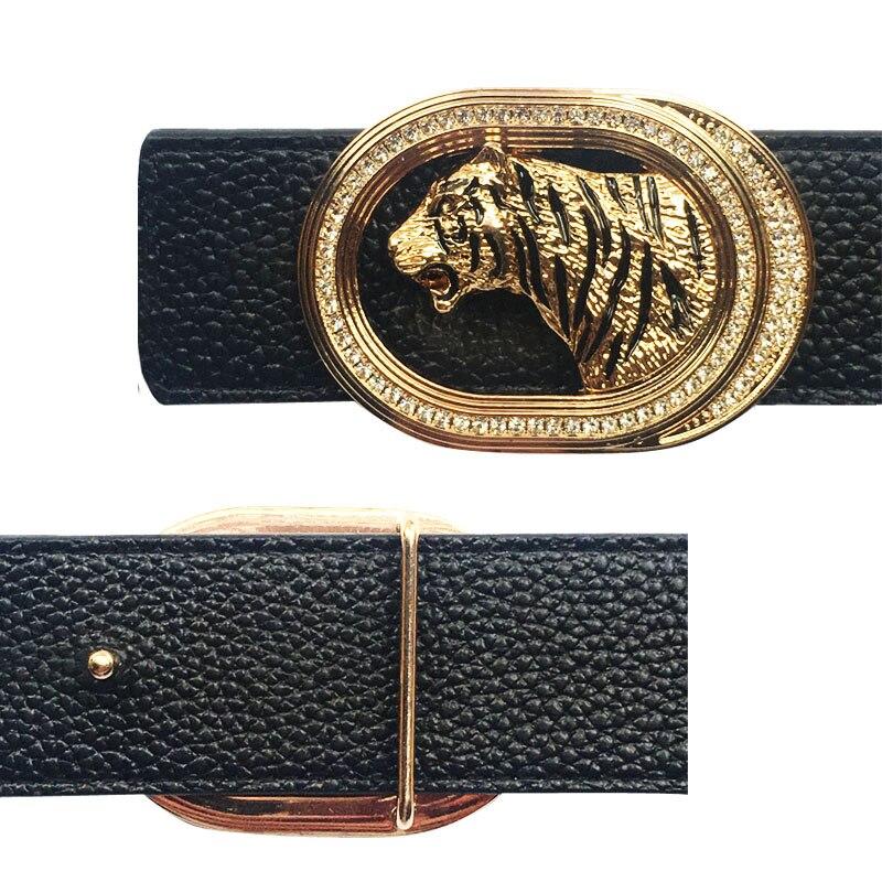 Animal Icon Tiger Belt Buckle Metal Accessories For Men's Belts