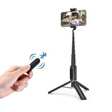 Ulanzi SK 02 אלחוטי Bluetooth Selfie מקל להארכה Hanheld חדרגל מיני חצובה עם מרחוק תריס נייד עבור iPhone 11