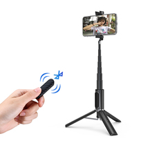 Ulanzi  SK 02 Wireless Bluetooth Selfie Stick Extendable Hanheld Monopod Mini Tripod with Remote Shutter Portable for iPhone 11