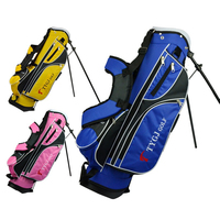 Children Golf Rack Bag Standard Bag Boys Girls Portable Golf Gun Bag Bracket Lightweight Standard Ball Package D0636