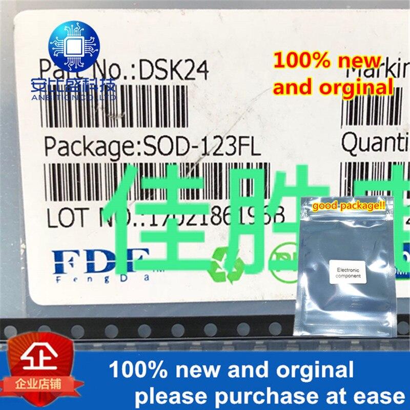 50pcs 100% New And Orginal DSK24 2A40V SOD123FL SILK-SCREEN K24 Schottky Barrier In Stock