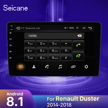 Seicane Android 9.1 2DIN Car Head Unit Radio Audio GPS Multimedia Player For 2014 2015 2016-2018 Renault Duster support OBD2 image