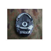 Placa de Metal de la Policía de Los Ángeles, 3 piezas de combinación negra SWAT, policía, Estados Unidos, 3D, 8,4x6cm