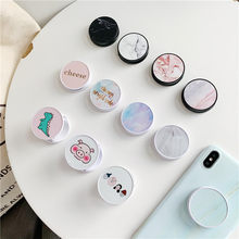 Cute Cartoon Folding stand For Mobile phone Holder for iPhone X 8 7 6 Plus IPAD for Samsung For Huawei Phone Case Grip Kichstand(China)