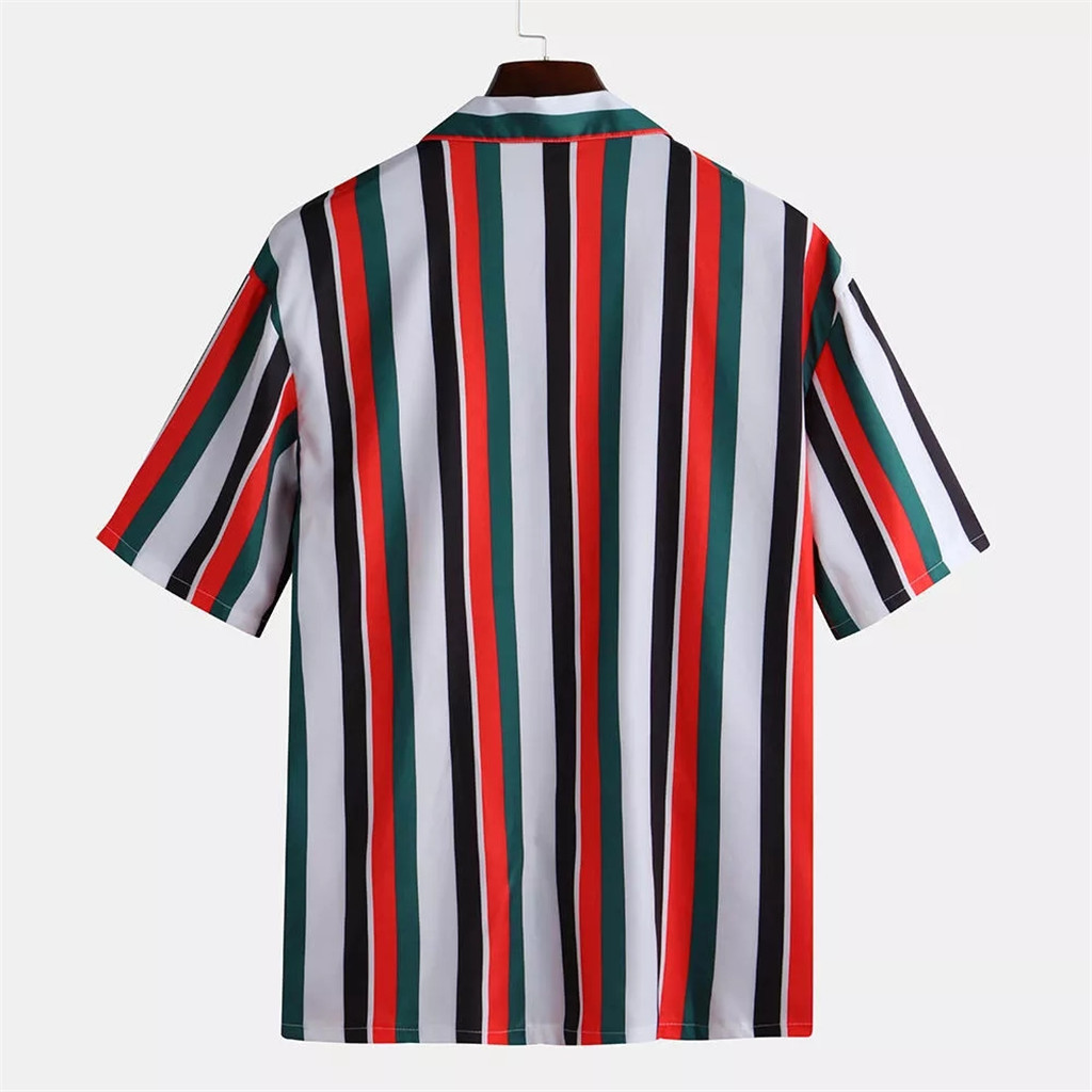 Men Shirts Mens Striped Shirt Short-Sleeve Shirts  5