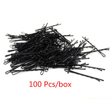 100 Pcs lot Small Clip Hair Clip for Women Hairpin Korean Version of Latest Black Wire Word Folder One Containing Hair Clips cheap Other Adult Barrettes Fashion Solid