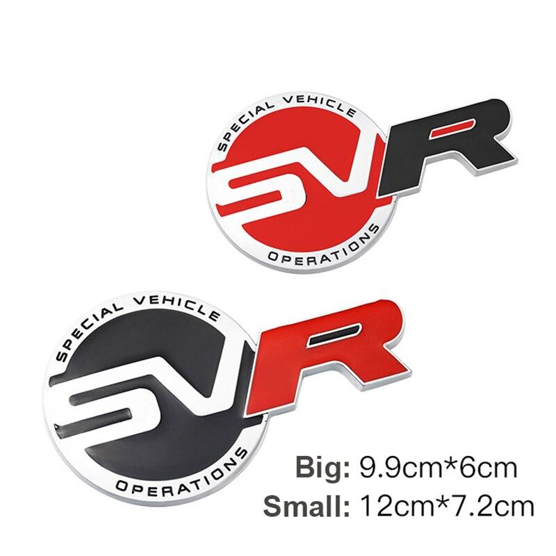 3D SVR Emblem Car Badge Front Bumper Grille Sticker Decal For Sport Supercharged