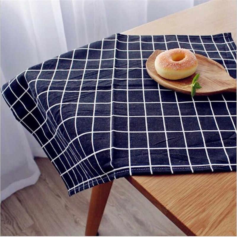 تصميم الطازجة النمط الرعوي المناديل القطن و الكتان منشفة لعاب الأطفال عدم الانزلاق منشفة مطبخ 30x40 سنتيمتر الجدول منديل القطن الكتان أكل حصيرة