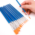 Memory 10Pcs Nylon Paint Brushes Set for Drawing Painting Acrylic Watercolor Professional Art Supplies