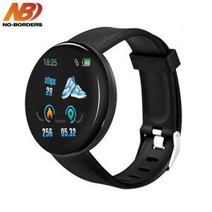 D18 Смарт-часы для мужчин и женщин кровяное давление круглые умные часы водонепроницаемые спортивные Смарт-часы фитнес-трекер для Android IOS PK D13