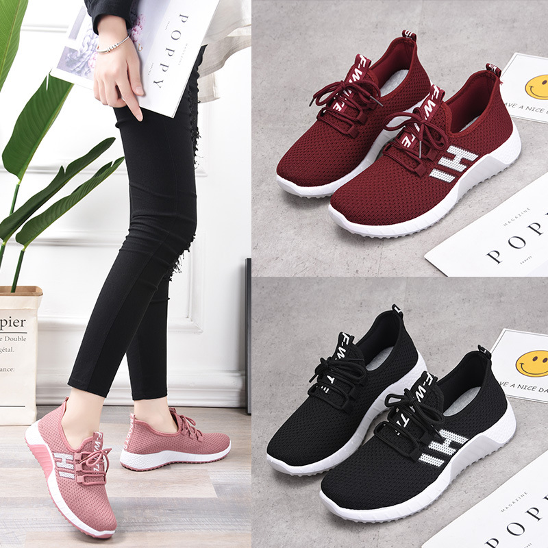 Women's Sports Shoes Female Mesh Sneakers Chunky Sturdy Sole 2020 New Spring/Summer Running Shoes Woman Brand Comfortable Tennis