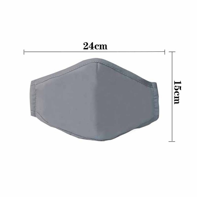 Fashion Man Woman Cotton Breath Valve PM2 5 Face Mouth Mask Activated carbon filter respirator Mouth-muffle 5