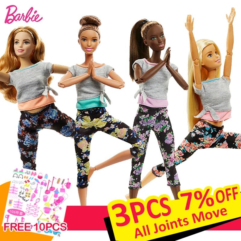 Original barbie 18 polegada articulações móveis yoga roupas bonecas do bebê e moda presente de aniversário menina brinquedos para crianças crianças bonecas
