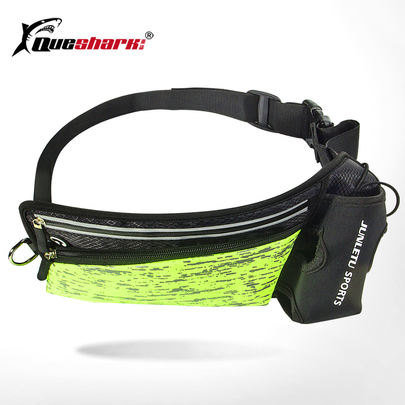 Reflective Running Waist Bag Ultralight Marathon Jogging Cycling Camping Belt Bag Anti-theft Fanny Packs With Water Bottle Bag