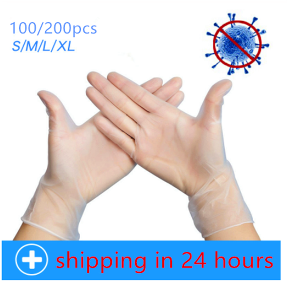 100/200pcs Anti Infection Protective Gloves Food Grade Waterproof Allergy Free Disposable Work Safety Gloves Ffp3 Glove Mechanic