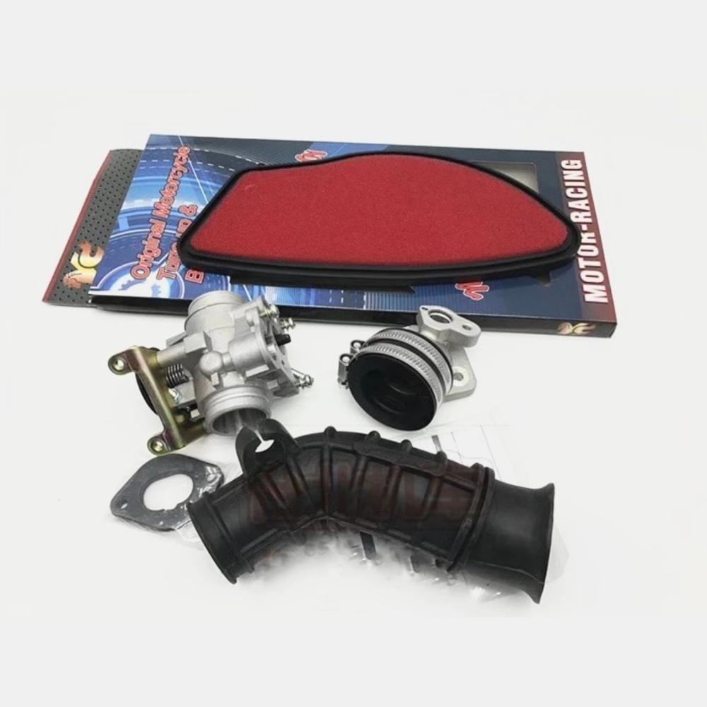 Kit per Bws 125 Cygnus Zuma Gtr valvola a farfalla valvola di aspirazione collettore di 28 millimetri tubo filtro racing tuning parti di aggiornamento - 2