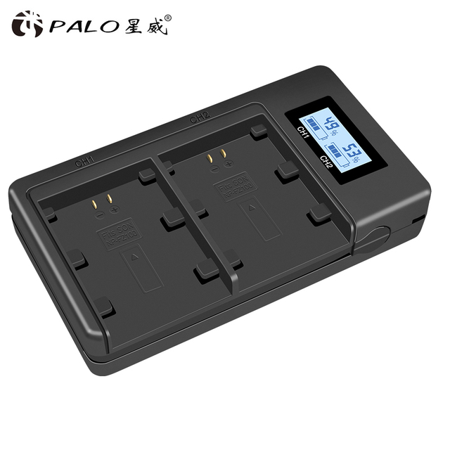 Palo NP FZ100 NP FZ100 LCD Dual USB Caricabatteria per Sony NP FZ100, BC QZ1 Alpha 9, A9, alpha 9R, Sony A9R Sony Alpha 9S