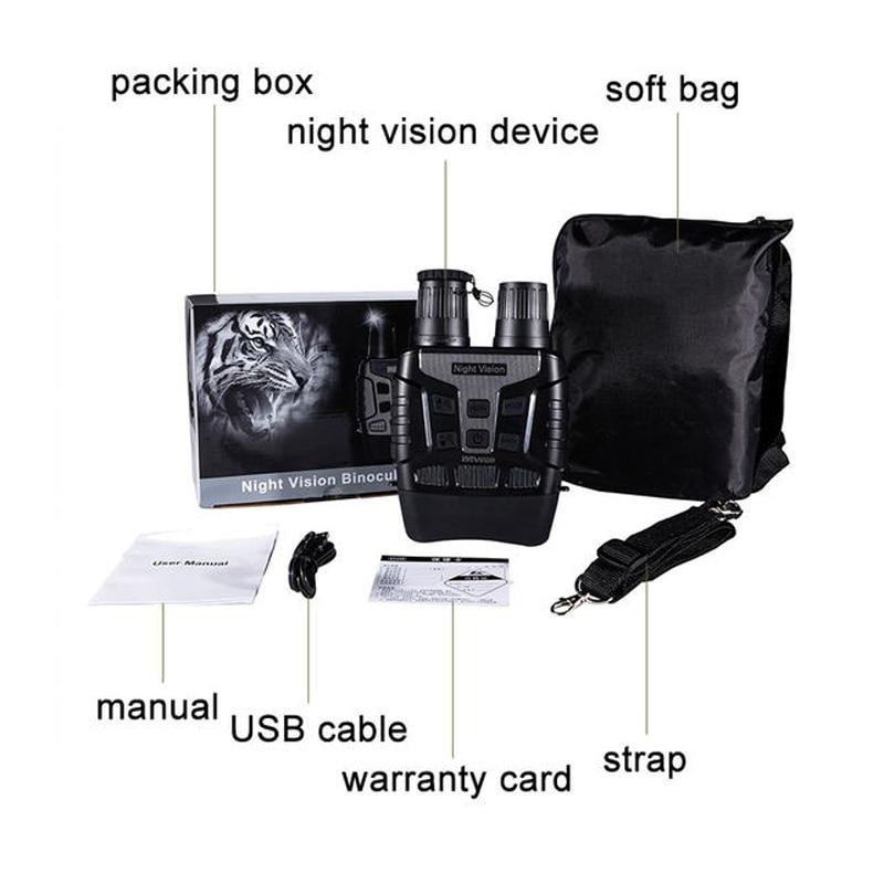 Infrarot Zoom Fernglas Digitale Nachtsicht Gerät HD TFT Dynamische Widescreen Display Bild Video Recorder für Tag Nacht Jagd