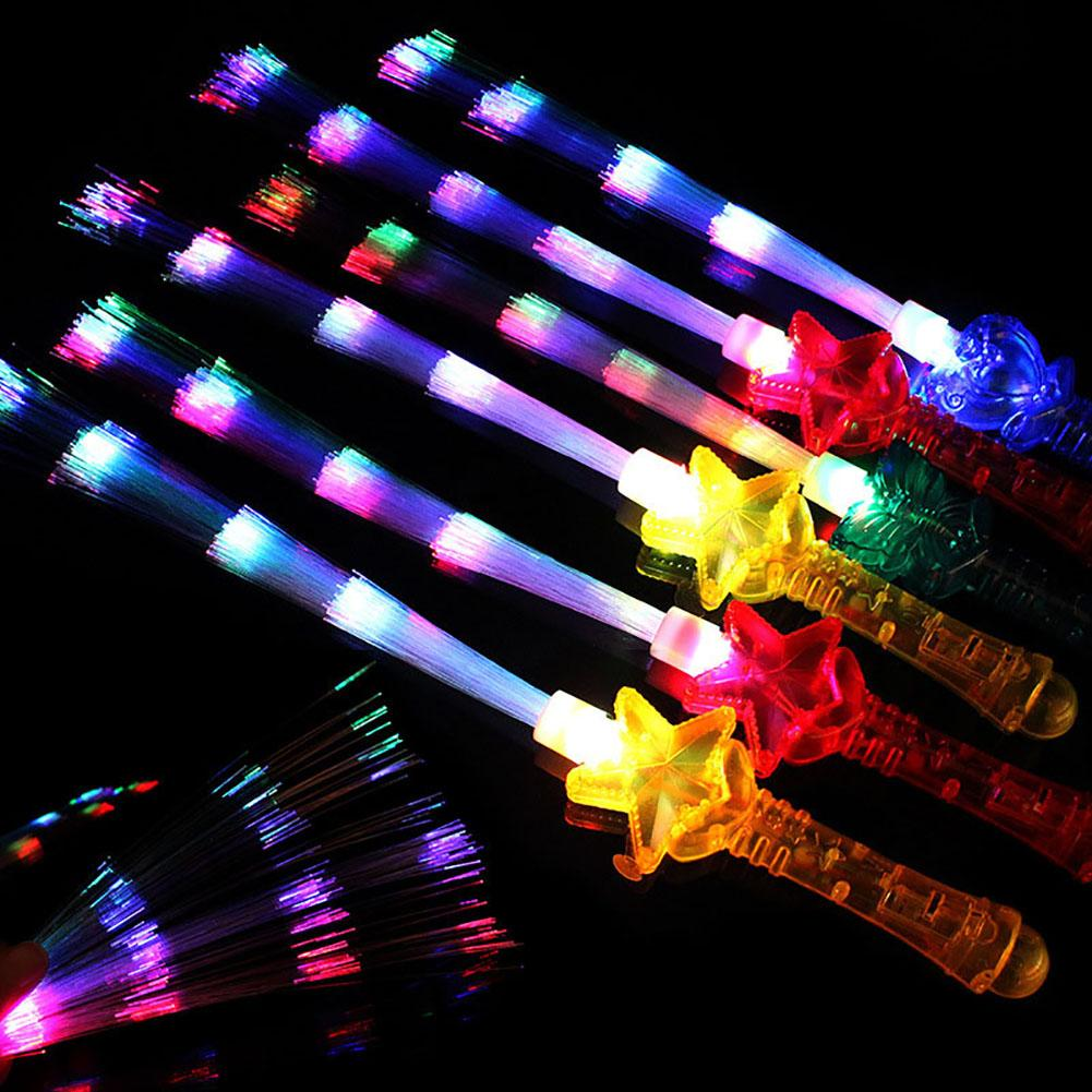 1Pcs 41cm Led Glow Stick Sword Light-Up Wand Fiber Optic Luminous Stick For Party Concert Night Club Supply