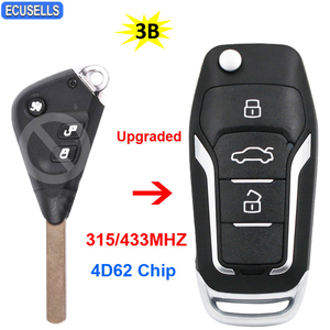 Upgraded Flip Folding Remote Smart Car Key Fob 315Mhz or 433Mhz with 4D62 Chip for Subaru Outback Liberty Impreza WRX Forester