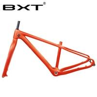 """Bxt 26er nova neve roda de gordura bicicleta quadro garfo 16 18 polegada carbono completo mtb neve 1 1/8 """"a 1 1/2"""" tubo cônico conjunto de quadros da bicicleta Quadro da bicicleta    -"""